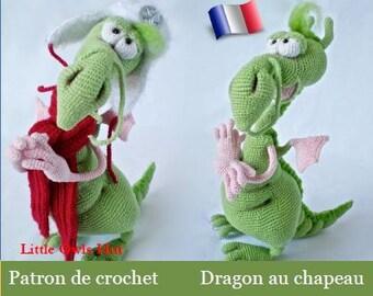 026FRM Patron d'amigurumi au crochet. Dragon frileux. Fichier PDF. Par Astashova Etsy
