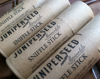 Sniffle Stick - Plastic Free Compostable Cardboard Tube - Sad Noses Love This Stuff