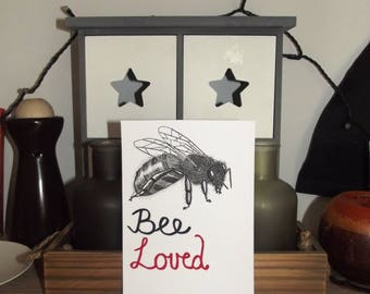 Bee Loved (drawing replica)