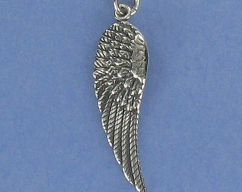 Angel Wing Necklace - 925 Sterling Silver - on Gift Card with Inspirational Quote