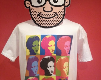 Eartha Kitt Pop Art T Shirt - (Jazz Music) - White Shirt