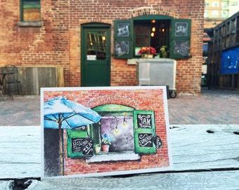 Toronto Postcard / Toronto Art / Toronto Themed Postcards / Watercolor Postcard /  Boutique Shop at Distillery District