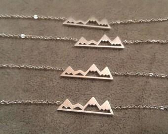 Mountain bracelet set, bridesmaid bracelet set, bridesmaid gift set, bridesmaid jewelry set-bracelet set of 3-bracelet set of 5-bracelet set