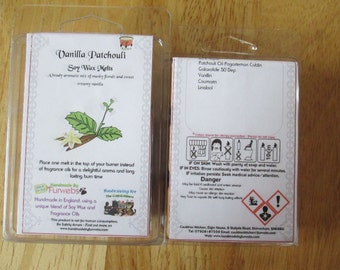 Vanilla Patchouli Scented Soy Wax Melts Pack