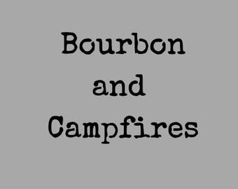 Bourbon and Campfires Slouchy Tee