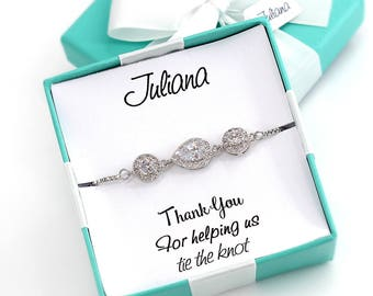 Wedding Bracelet Platinum plated Zirconia Bracelet Wedding Bracelet Bridesmaid Bracelet Wedding Jewelry Bridal Bracelet Bridal Jewelry Gift