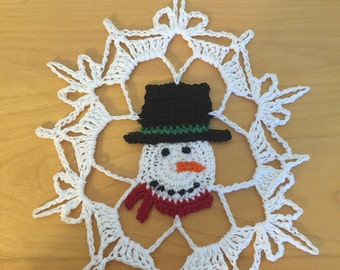 Snowman  Snowflake pattern/not a finished product. -no refund