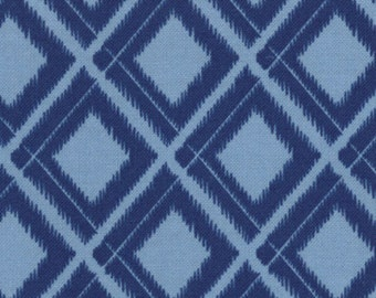 Simply Color by V & Co for Moda Fabrics, Ikat Diamonds in Navy Blue 1/2 yard total