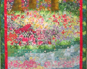 Reflections Original Art Quilt by Lenore Crawford