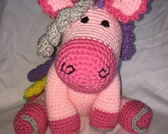 crochet pony PATTERN,  crochet Horse Pattern,  Amigurumi Crochet Pattern, Amigurumi Pattern,  Kids Gift PDF Pattern, Crochet Toys,