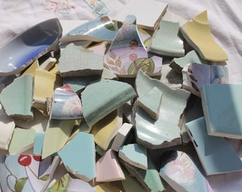 Soft Pastels- A Collection of Scrap Tile for use in Mosaic Art