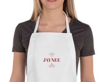 Embroidered Apron, Custom, Name and Design