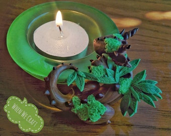 Earth Dragon Candle Holder