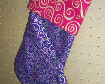 Christmas Stocking is lined with Cuff