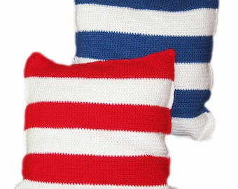 Stripes Crochet Decorative Pillows