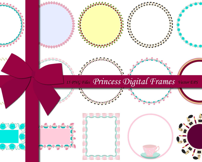 70% OFF SALE Princess Digital Frames, Vector Frames, Shape Frames ...