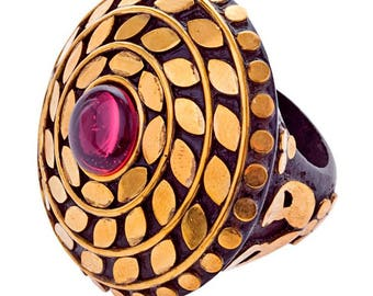 Fallon Ring Brass (R15: 17)