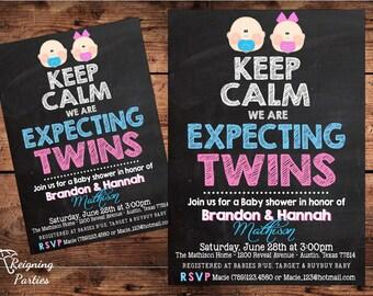 Triplets baby shower invitation baby shower invitation keep calm twins invitation twins baby shower triplets baby shower digital filmwisefo Choice Image