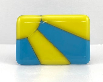 Fused Glass Belt Buckle