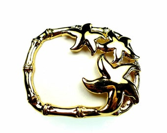 Belt buckles, vintage starfish