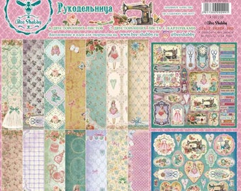 Scrapbooking paper pad  30 cm \12x12 HAND MADE hobby Tilda