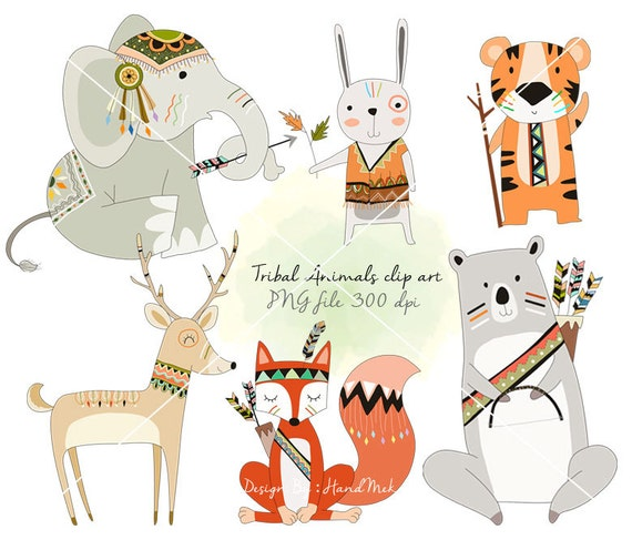 tribal animals woodland clipart animals clipart instant rh etsy com tribal clip art free tribal clipart png