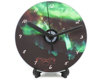 Skyrim Aurora Sky Printed CD Clock Video Game Collectable Gift Idea