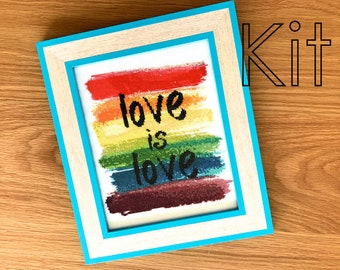 Cross stitch kit, love is love, counted cross stitch kit