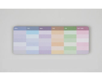 Weekly Scheduler Sticky Note Memopad Notepad