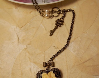 Unchained Heart Locket pendant necklace
