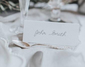 Calligraphy Hand Written Style Place Cards. Wedding place name cards. Name cards.