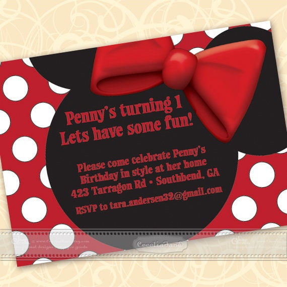 birthday party invitations, birthday party, polka dot birthday party, princess party, princess birthday party, IN345