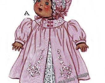 Vintage 1940s Sewing Pattern Dolls 20 inch Dress Coat Jumpsuit Romper Bonnet Hat Reproduction PRINTED COPY