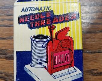 Vintage Handy automatic needle threader, needle threader, handy needle threader, sewing accessory