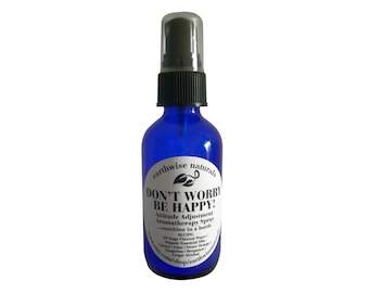 DONT WORRY Be Happy(Tm) | Mood Lifting Day Brightening Organic Aromatherapy Spray | 2 oz