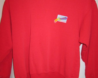 "vintage, ""HOT ROCKET"" clothing company kauai, Hawaii red rocket graphic sweatshirt mens size xl"