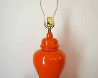 Mod Orange Ginger Jar Table Lamp