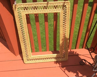 Vintage Burwood faux wicker large frame