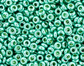 TOHO Japanese Seed Beads - Demi Round 11/0 : PF561 - PermaFinish - Galvanized Green Tea - 10 grams
