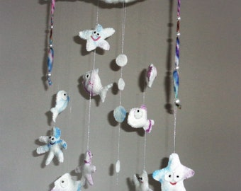 Mobile, fish, decoration, baby Mobile, wall, dream catcher, felt mobile