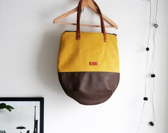 Canvas tote bag, Tote bag personalized, Tote bag with zipper, Tote bag leather handles, Tote bag for women