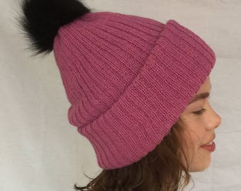 Violet Pink Double Layered Hat - Icelandic Production