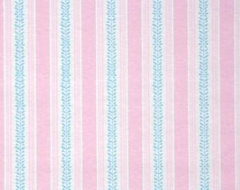 1940's Vintage Wallpaper - Pink and Blue Stripe