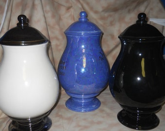 Ceramic jar with lid,urn,(color) Jar with lid,large urn, large jar, art pottery, handmade