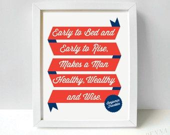Ben Franklin Quote Print