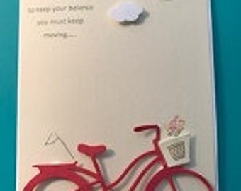 Life Is Like Riding a Bike... Greeting card