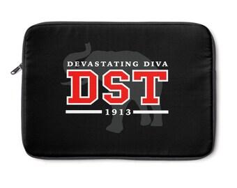 Black Delta Sigma Theta Laptop Sleeve  Red And White Laptop Sleeve  Custom 1913 Delta Laptop Sleeve  Delta Paraphernalia  Delt