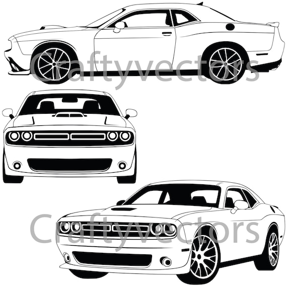 dodge challenger 2015 vector file