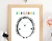 PRINTABLE. Hedgehog Wall ...