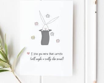 Cute Valentine Card or Love Card for Boyfriend Husband Wife Girlfriend or Friend Romantic Just Because Card Birthday Card Anniversary Card